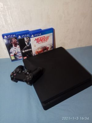 Продам Sony PlayStation 4 Slim (1TB) (CUN-2016B) за 25000 руб.